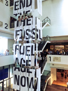 End the Fossil Fuel Age Now copyright by 2018 Fossil Free Culture NL, Alejandro Ramirez.
